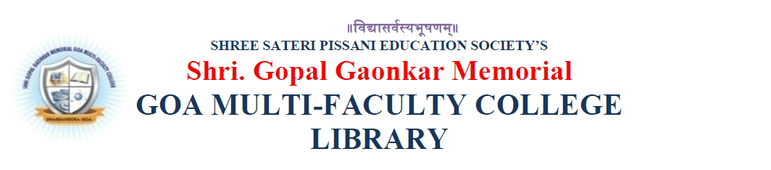 GOA MULTI-FACULTY COLLEGE LIBRARY